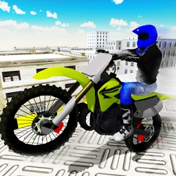 Flying Bike Rooftop Jump Mania - Real Stunt Racing Bike Crash Game
