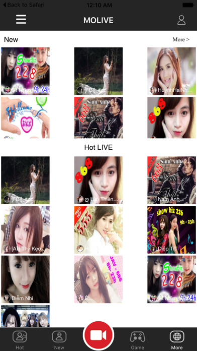 Molive - Live Streaming Video Screenshot on iOS