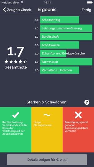 Arbeitszeugnis.io Screenshot
