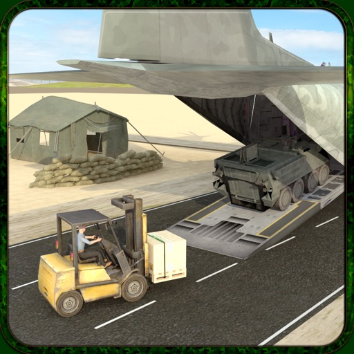 Army Cargo Plane Flight Simulator: Transport War Tank in Battle-Field