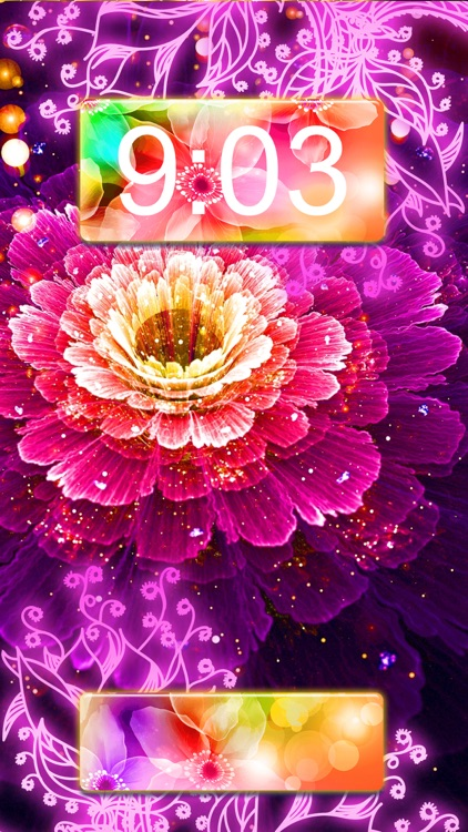 Neon Flower Wallpaper.s Collection – Glow.ing Background and Custom Lock Screen Themes screenshot-3
