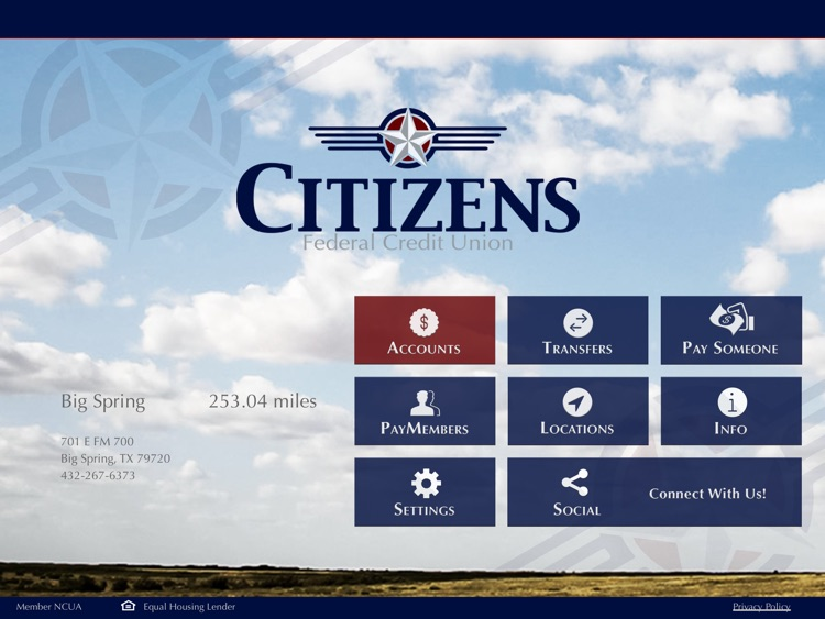 Citizens FCU Mobile for iPad
