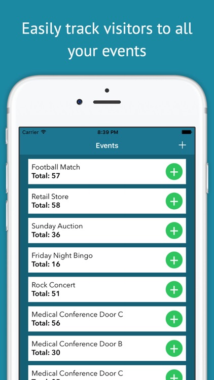 People Counter - Keep Track of Event Visitors screenshot-0