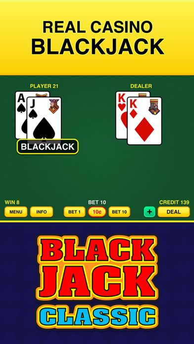 Blackjack Classic - FREE 21 Vegas Casino Video Blackjack