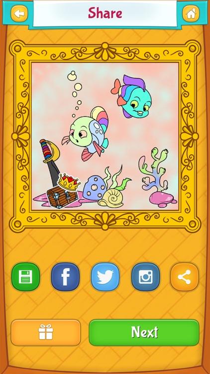 Fish Coloring Pages screenshot-3