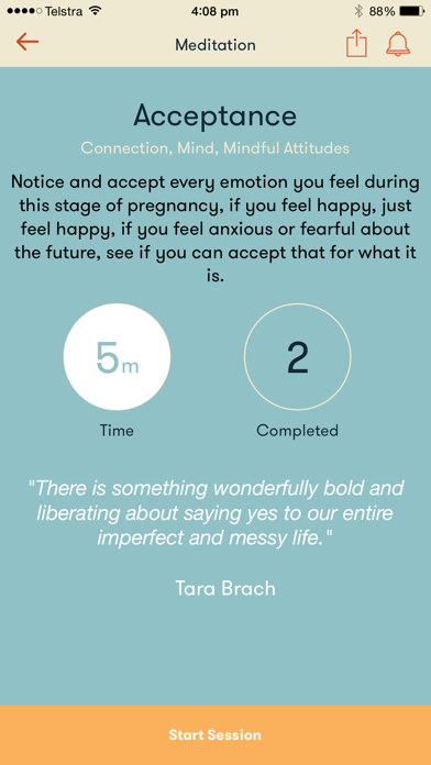 Mind the Bump - A Mindfulness Meditation tool for new and expecting parents screenshot three