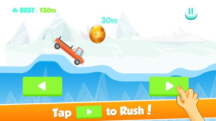 Tiny Car on Risky Road Adventure - Don't Fall the Big Golden Egg screenshot-3