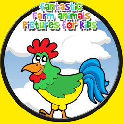 fanstastic farm animals pictures for kids - no ads