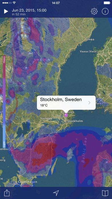 Väderradar: Väderprognos på PC