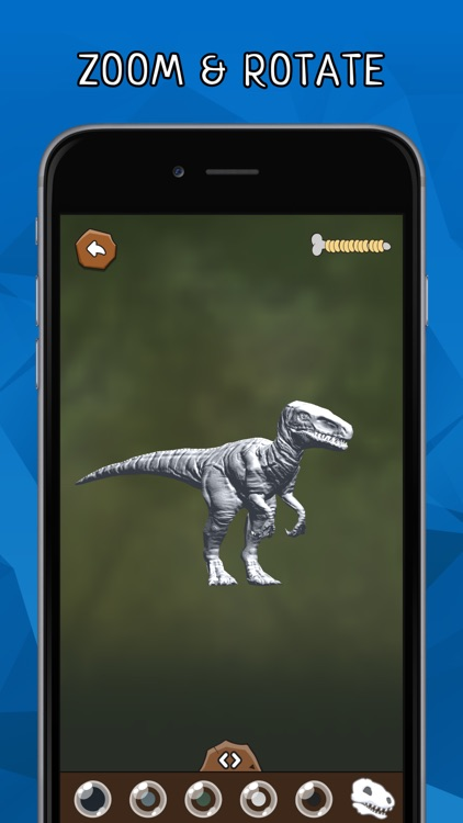 DINOZZZ - 3D Coloring MAX - unique, interactive, animated full-3D live dinosaurs coloring & painting experience for kids & adults screenshot-3
