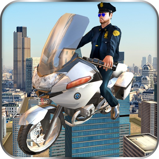 Flying Police Bike Rider 2016 - Ride & Fly Motorcyle in the City To be a Best Traffic police