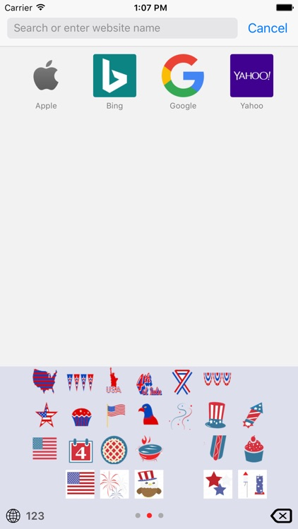 4th of July Emoji Keyboard