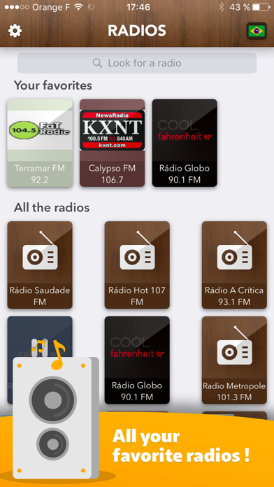 Brazilian Radio - access all Radios in Brasil FREE
