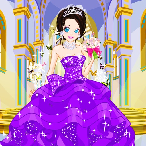 蝴蝶婚纱换装