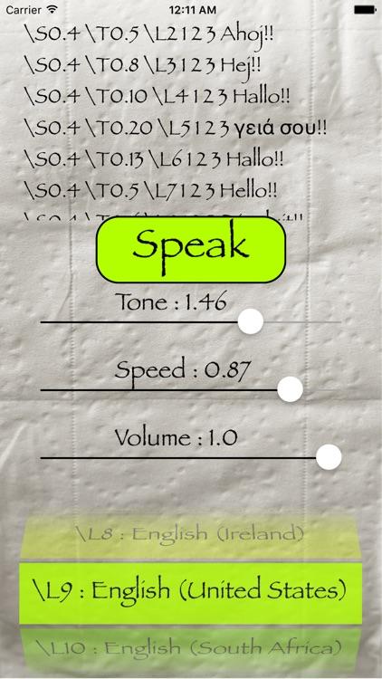 iSpeech Synthesizer