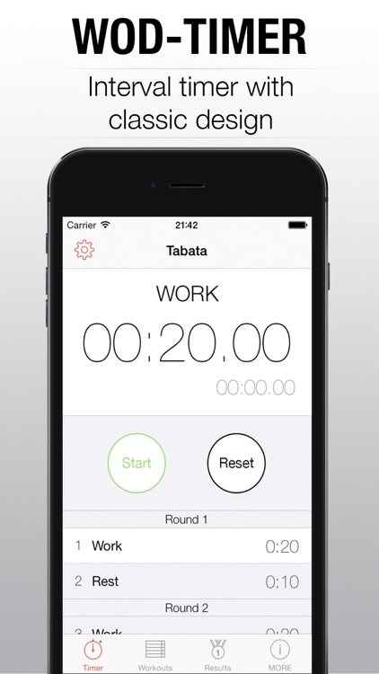 WOD Timer - interval tabata timer for training and round hiit wod