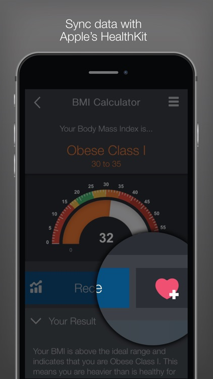 BMI (Body Mass Index) Calculator – calculate your healthy weight for your diet or training screenshot-3