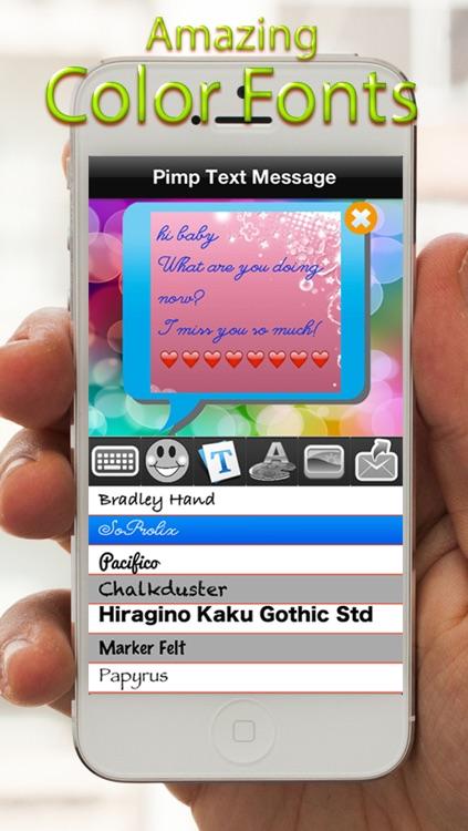 Pimp Bubble Message Free - Amazing Pink Colorful EMoji Messages
