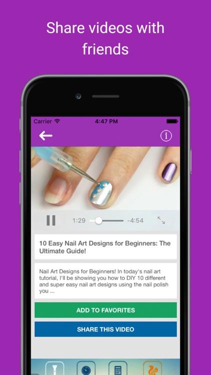 Nail art tutorial idea videos: Women beauty lesson screenshot-3