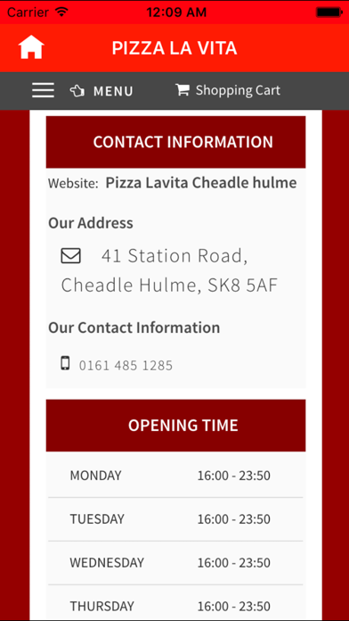 Pizza La Vita Cheadle Hulme App Price Drops