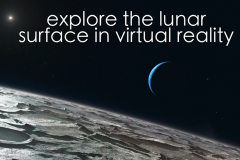 Virtual Reality Moon for Google Cardboard VR screenshot 1