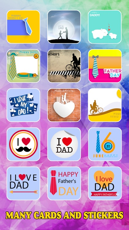 Father's Day Photo Frame.s, Sticker.s & Greeting Card.s Make.r Pro screenshot-3