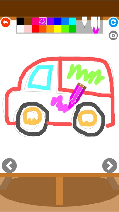 Screenshot 10 For Coloring Book Baby Car Doodle Jigsaw Games