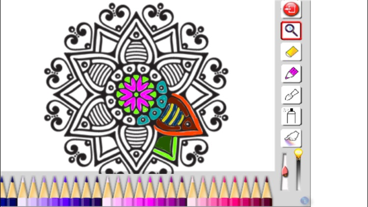 Adult Coloring book - Mandala, Flowers, Animals and Beautiful Patterns screenshot-0