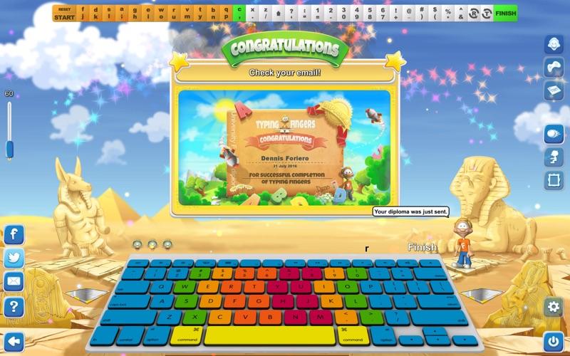 Typing Fingers LT Screenshot