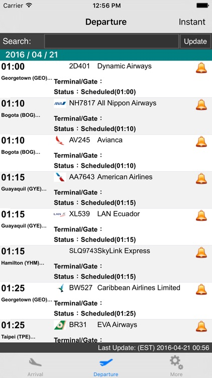 US New York JFK Intl Airport Flight Info screenshot-1