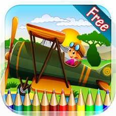 Activities of Planes Aircraft Coloring Book - All in 1 Vehicle Drawing and Painting Colorful for kids games free