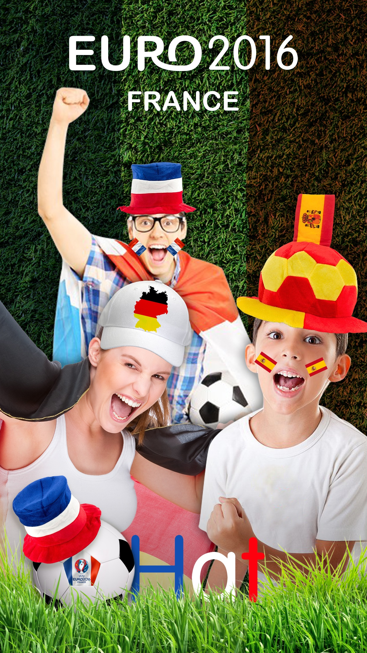 Flag Face Photo Sticker for Euro Cup 2016 - Picture Editor for Football Fans to Support Your National Team Screenshot