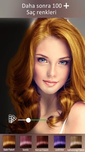 Saç Rengi Changer Makyaj Aracı Değişim Saç Rengi App Storeda