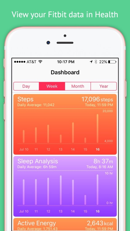 myFitnessSync for Fitbit - Fitbit to Apple Health screenshot-4