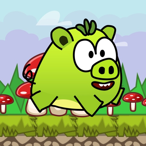 Pig Jump:Rolling Sky 2 - Toddler Kids Snakeio Game iOS App