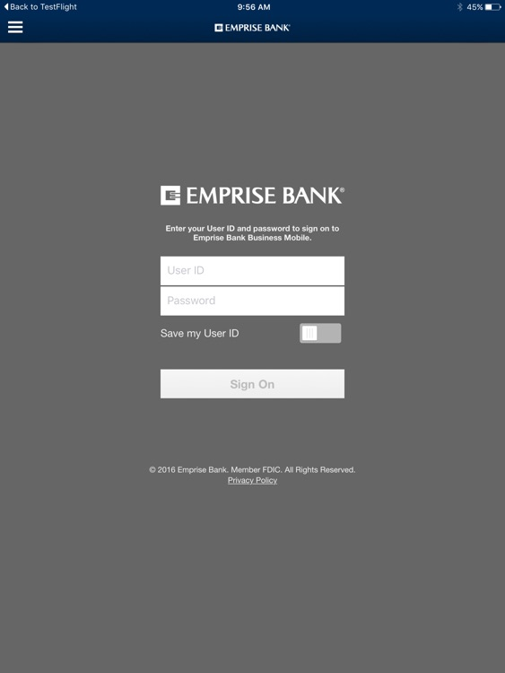 Emprise Bank Business for iPad