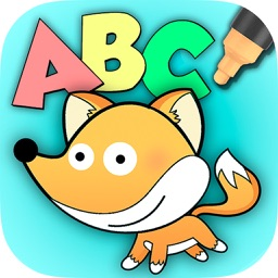 Color and Paint Zoo alphabet - English ABC Learning game for kids