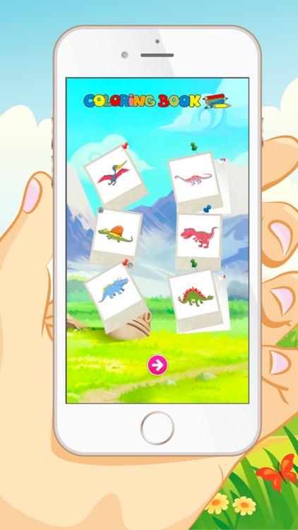 Dinosaur Coloring Book - Educational Coloring Games For kids and Toddlers Free screenshot-3