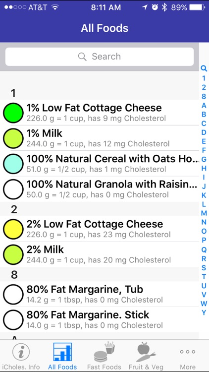 iCholesterol - iNutrient: Dietary Cholesterol screenshot-2