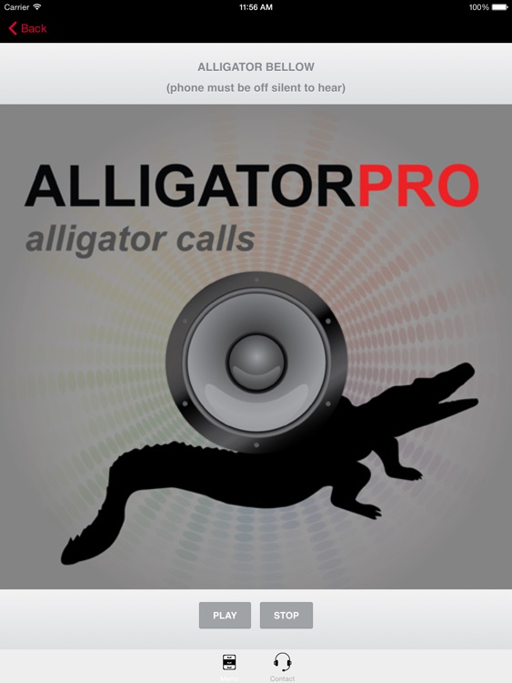 REAL Alligator Calls and Alligator Sounds for Calling Alligators - (ad free) BLUETOOTH COMPATIBLE screenshot-0