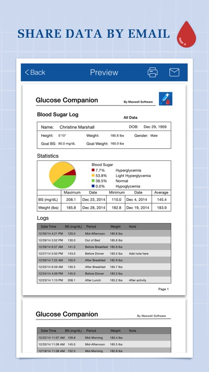 Glucose Companion - Blood Sugar and Weight Tracker screenshot-4