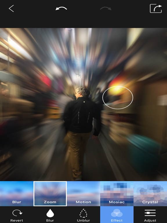 Screenshots of Blur Photo Background - Touch Blur Effect Editor for iPad