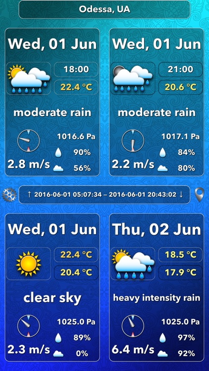 OWeather – weather forecast and weather maps screenshot-3