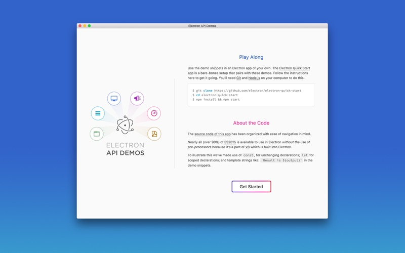 Electron APIs Screenshot