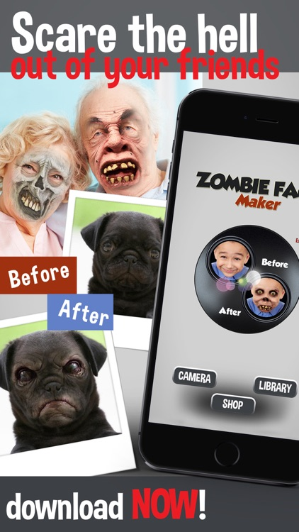 Zombie Face Maker - Turn Your Pic Into a Scary and Ugly Creature Photo Booth screenshot-4
