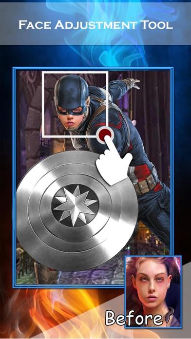スーパーヒーローの顔チェンジャー2 - スーパーヒーローSuiteとのフェイススワップアプリ&面白い写真編集のスクリーンショット4
