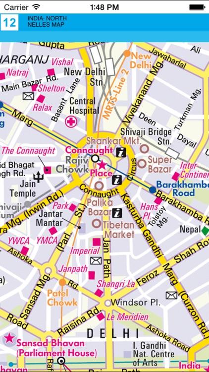 India: North. Tourist map. screenshot-4