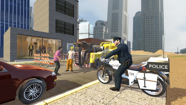 Extreme Traffic Police Bike - Ride Motorcycle & Chase Criminals in City