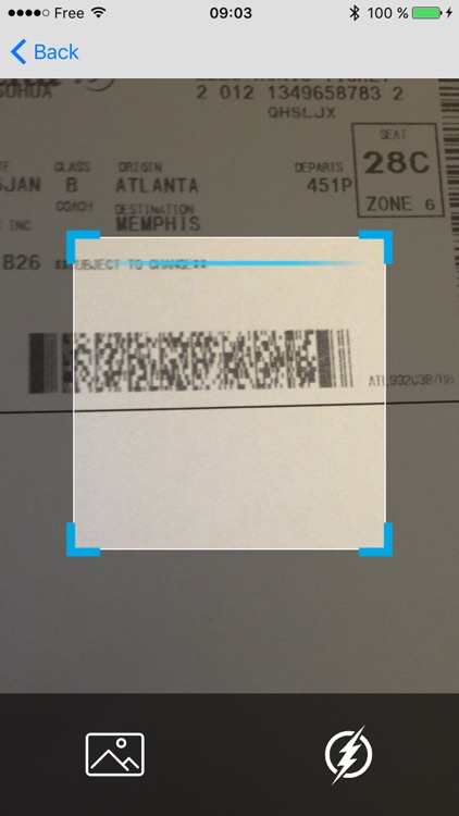 Boarding Pass Reader