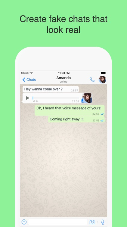 WhatsPrank - Create Fake Conversations for WhatsApp